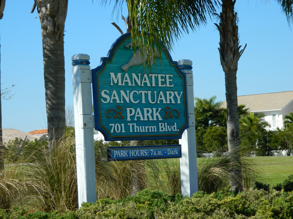 Manatee Sanctuary Park sign