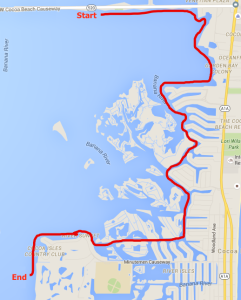 Cocoa Beach Boat Parate Route 2015